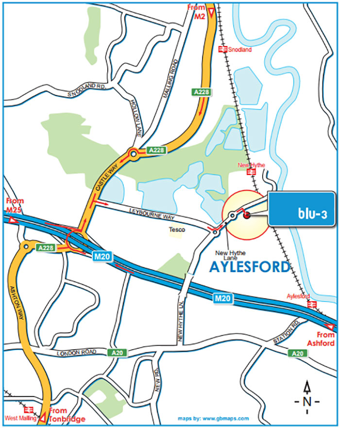 Blu-3 Route map